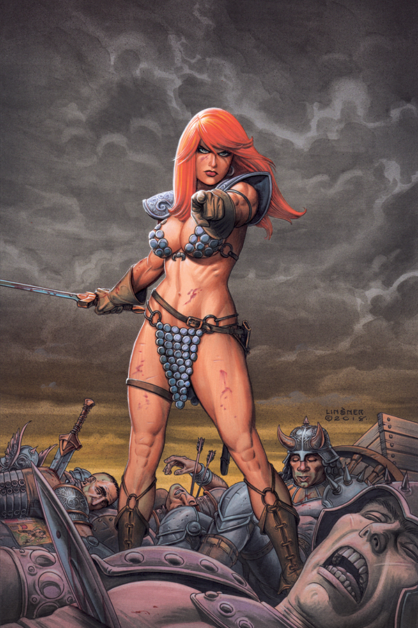 RED SONJA #1 JOSEPH LINSNER VIRGIN VAR