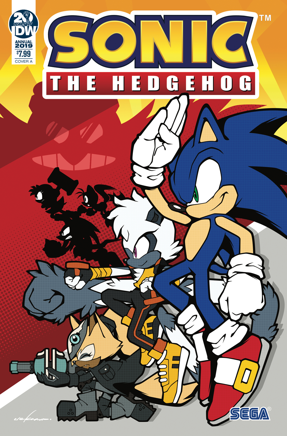 SONIC THE HEDGEHOG ANNUAL 2019 CVR A SONIC TEAM