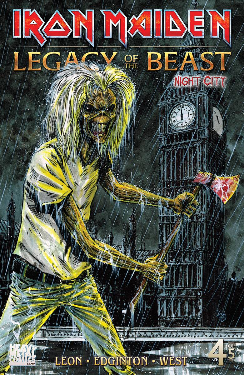 IRON MAIDEN LEGACY O/T BEAST VOL 2 NIGHT CITY #4 CVR C WILLI