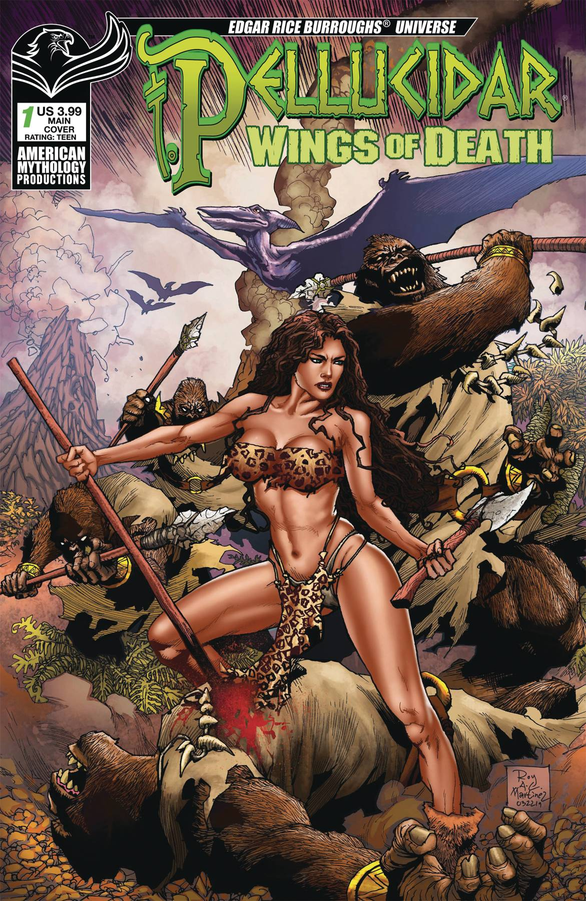 PELLUCIDAR WINGS OF DEATH #1 CVR A MARTINEZ (O/A)