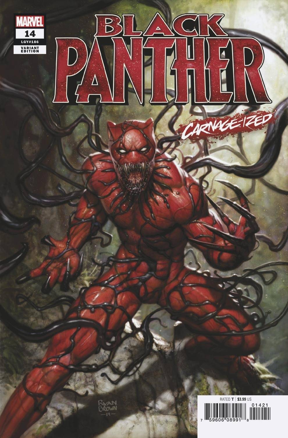 BLACK PANTHER #14 BROWN CARNAGE-IZED VAR