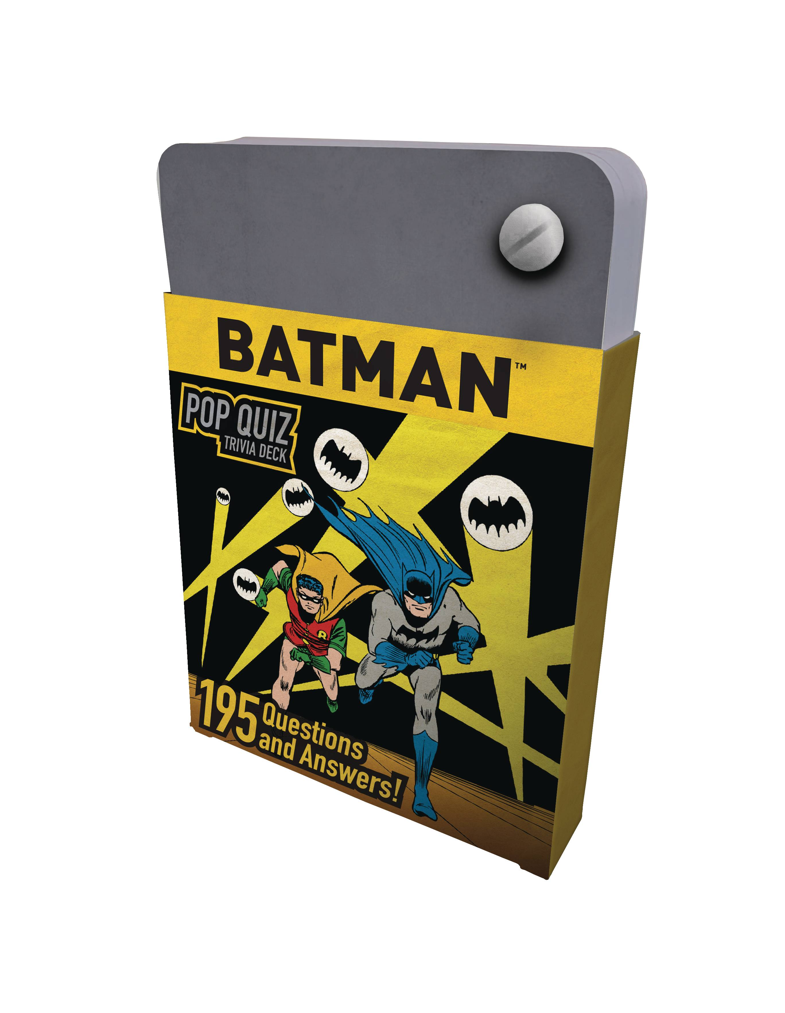 DC COMICS BATMAN POP QUIZ TRIVIA DECK