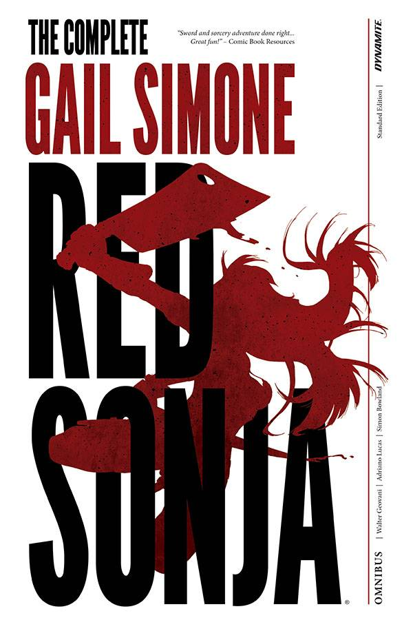 RED SONJA COMPLETE GAIL SIMONE HC OVERSIZED SIMONE SGN