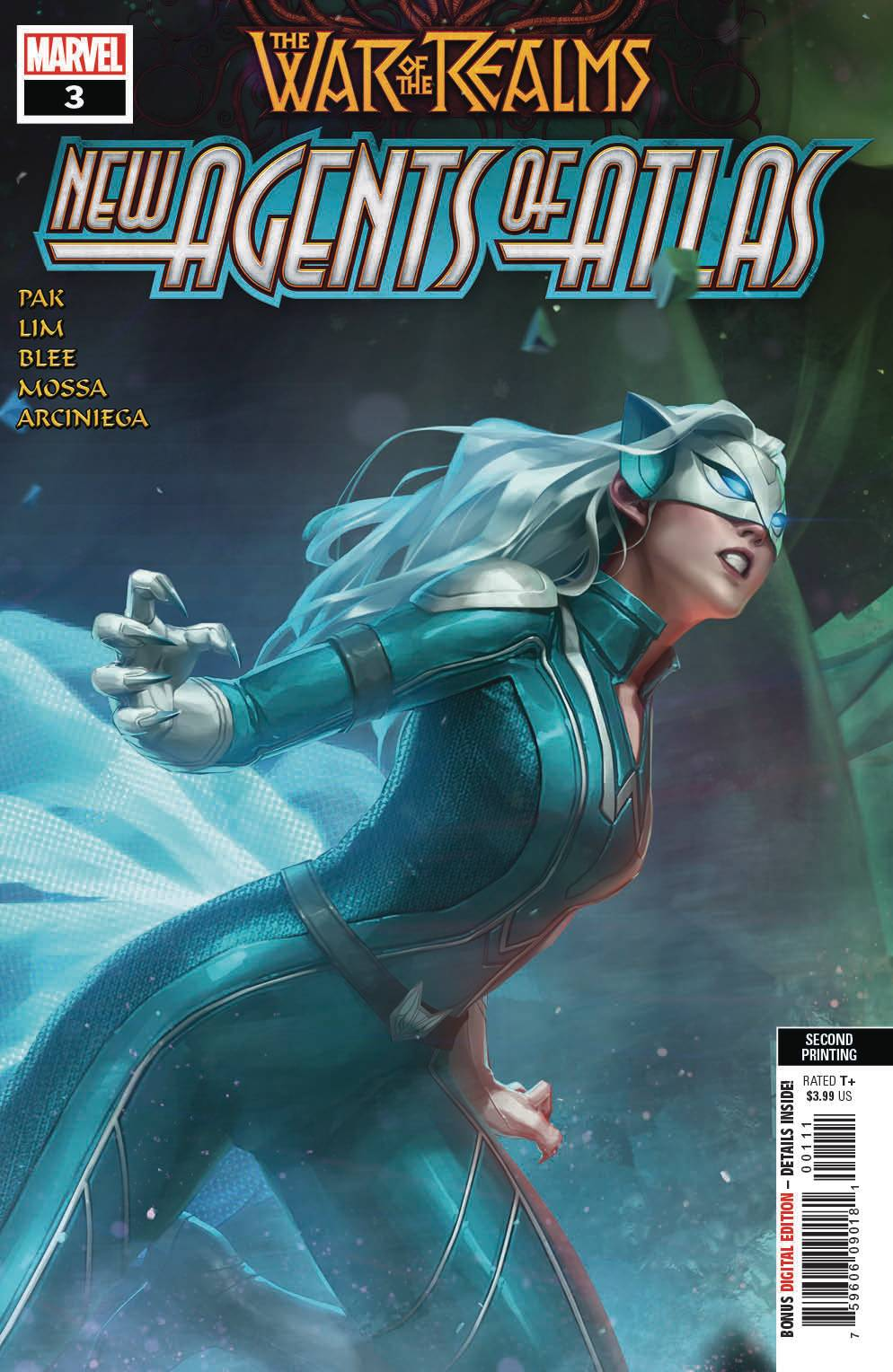 WAR OF REALMS NEW AGENTS OF ATLAS #3 (OF 4) 2ND PTG VAR