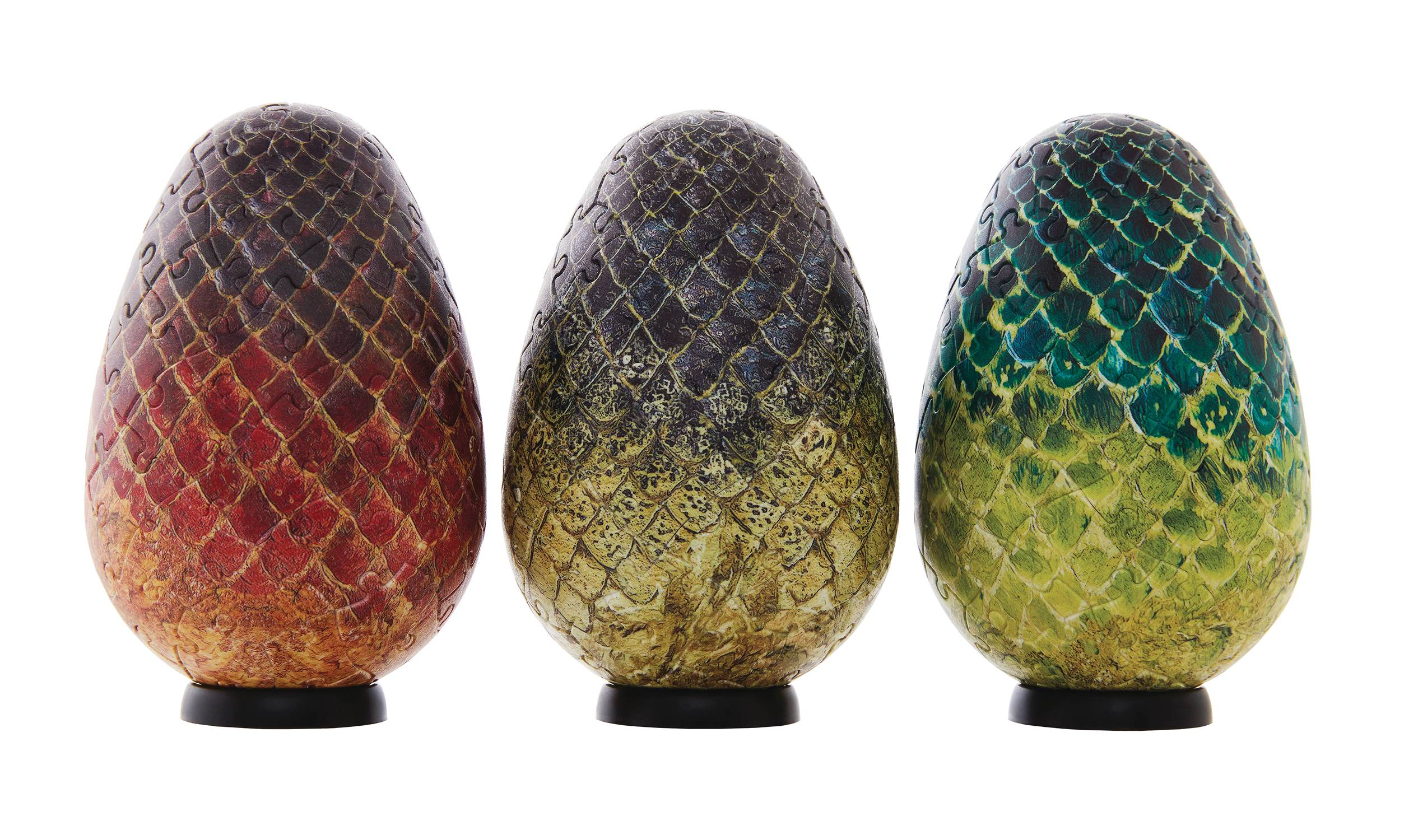 4D GAME OF THRONES DRAGON EGG 3PC PUZZLE SET