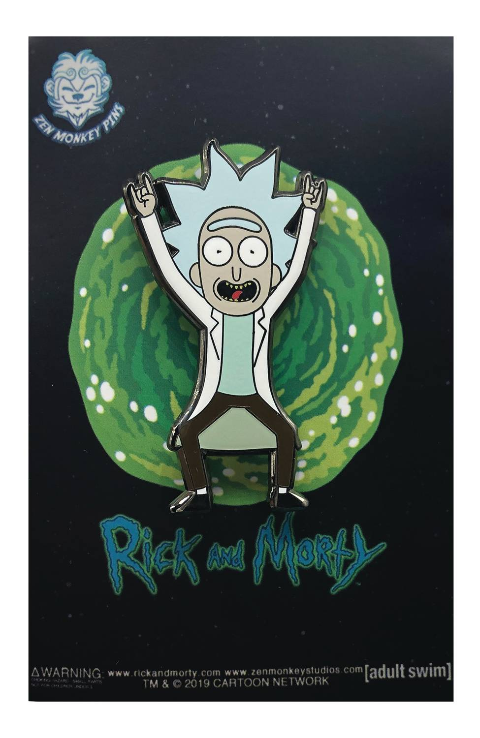 RICK AND MORTY TINY RICK DEVIL HORN HANDS PIN