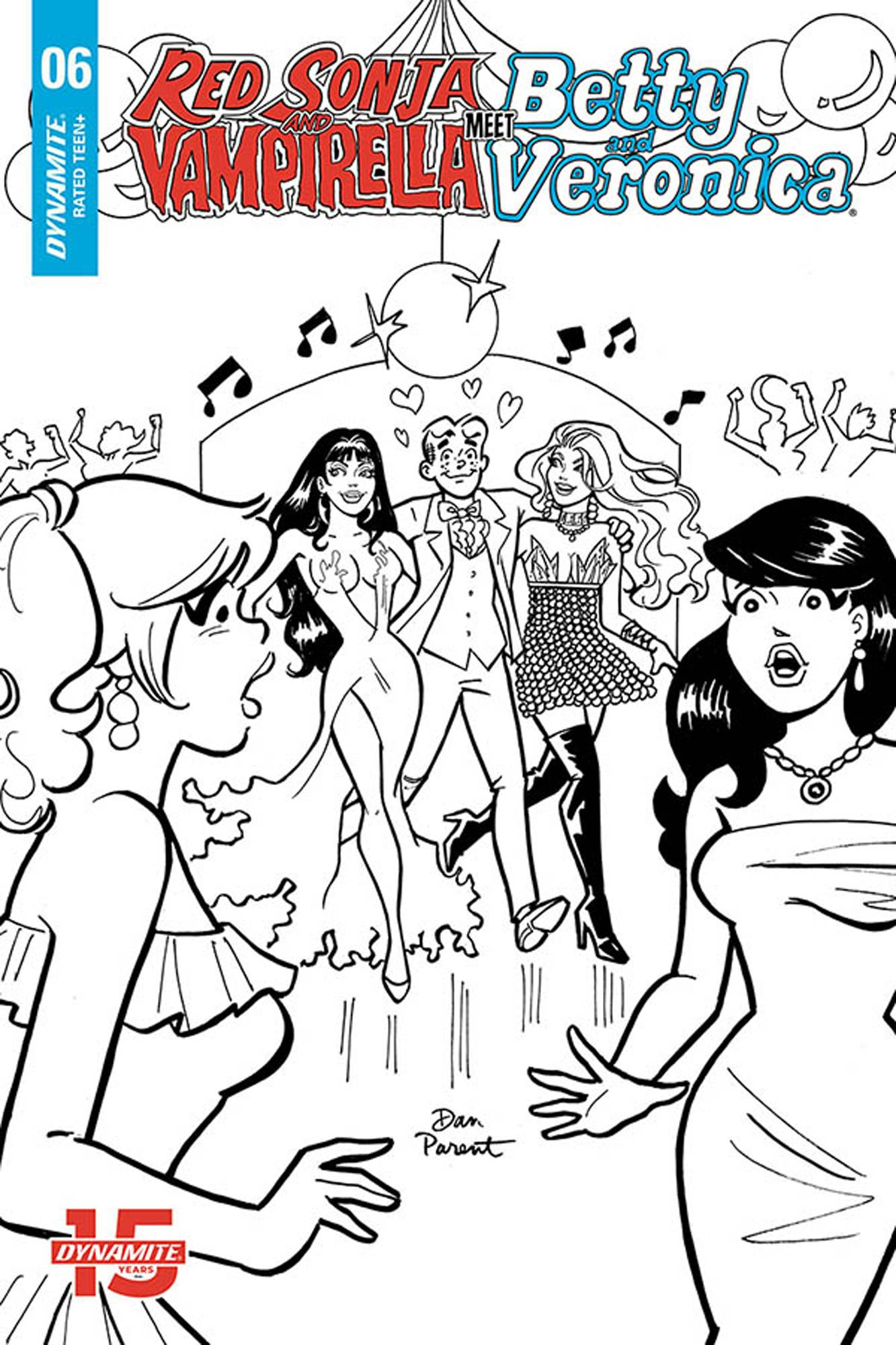 RED SONJA VAMPIRELLA BETTY VERONICA #6 10 COPY PARENT B&W IN