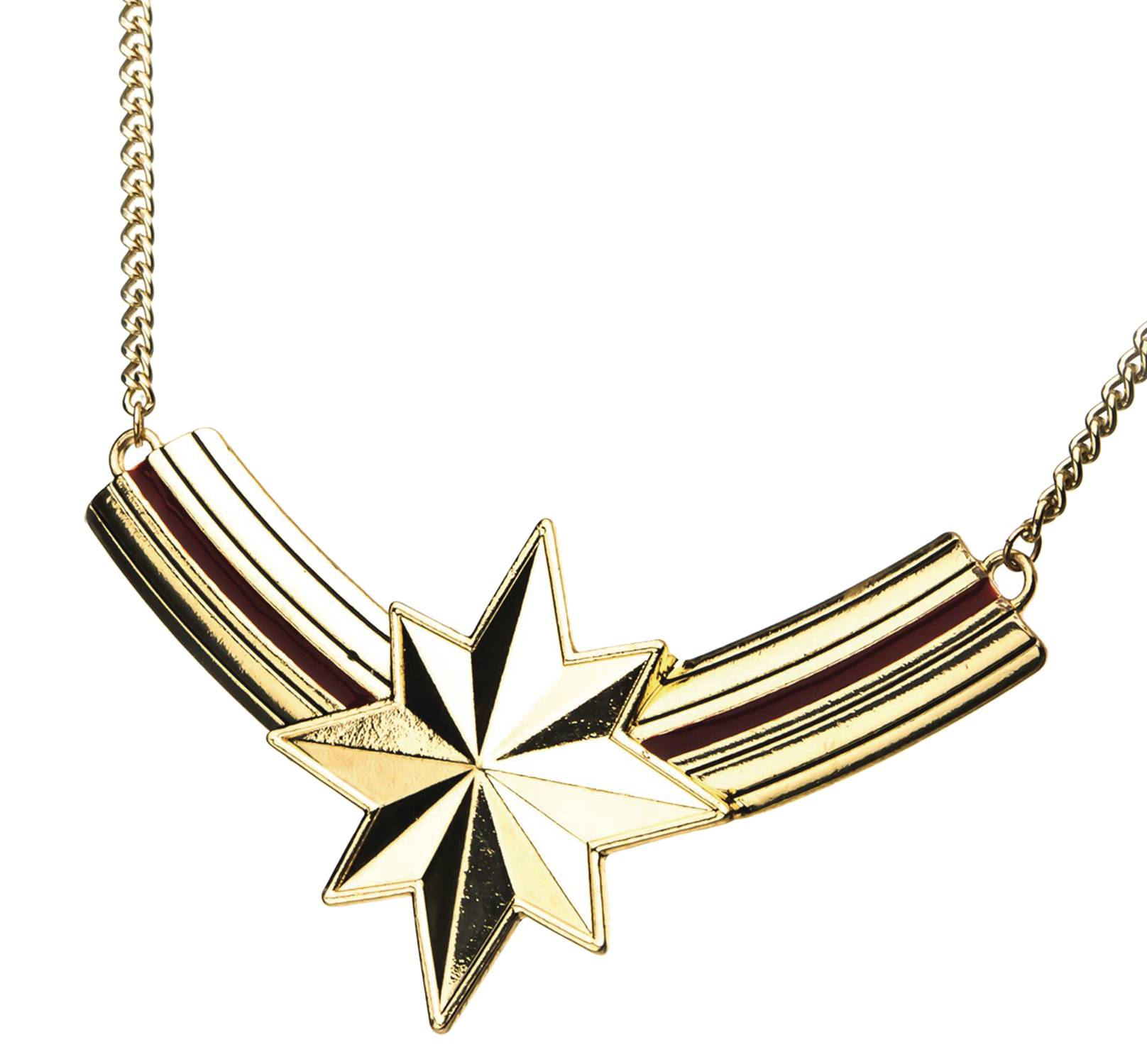 MARVEL HEROES CAPTAIN MARVEL BIB NECKLACE