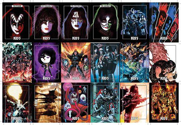 KISS DLX ULTRA PREMIUM TRADING CARDS LTD UNCUT CARD SHEETS (