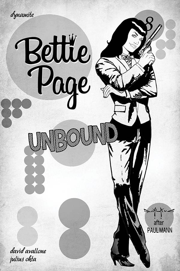 BETTIE PAGE UNBOUND #8 40 COPY QUALANO B&W INCV