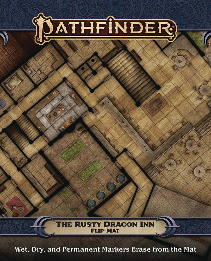 PATHFINDER FLIP MAT RUSTY DRAGON INN