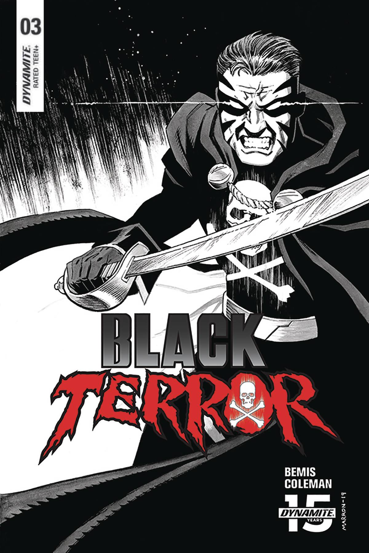 BLACK TERROR #3 30 COPY MARRON B&W INCV