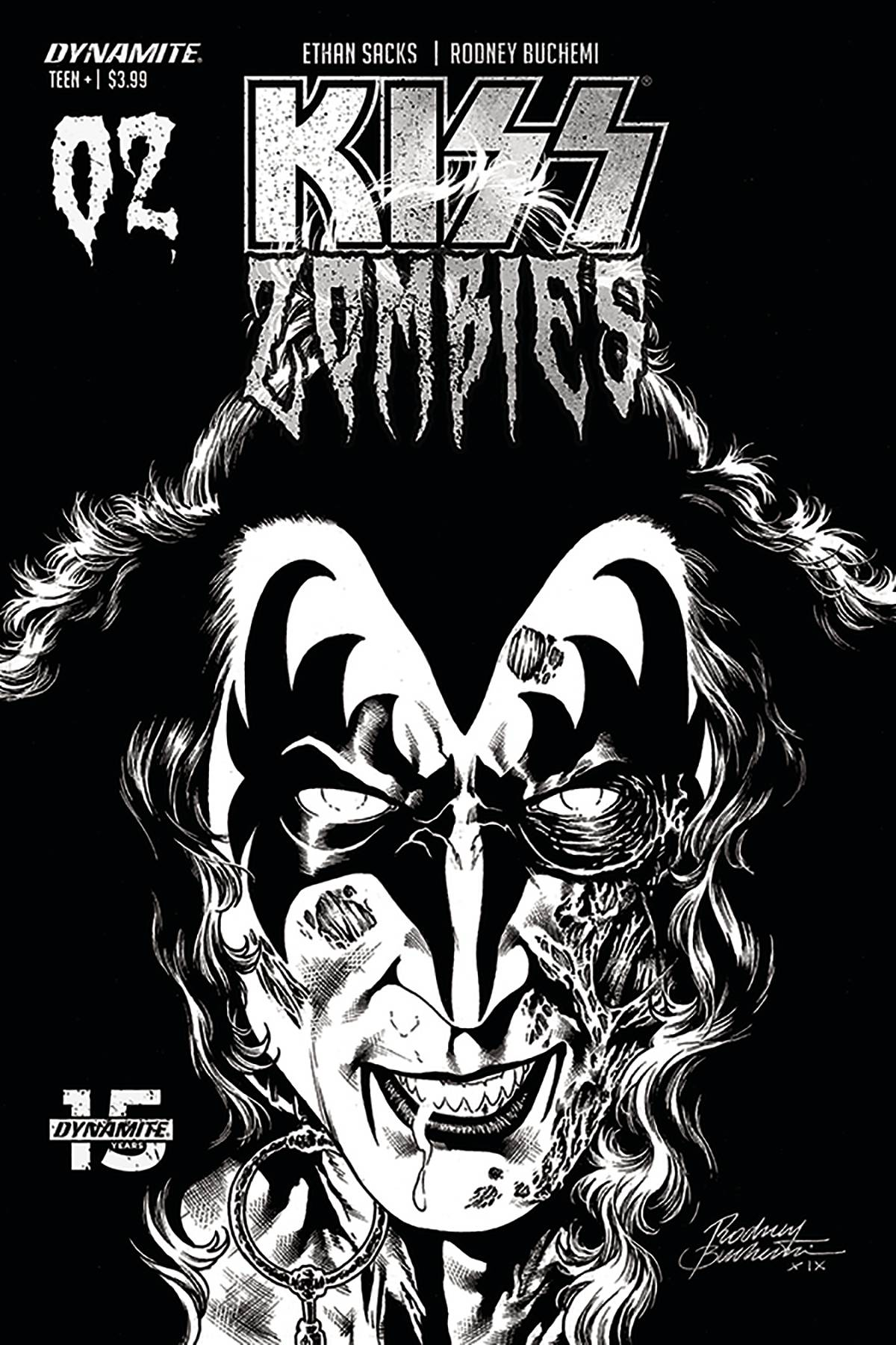 KISS ZOMBIES #2 30 COPY BUCHEMI B&W INCV