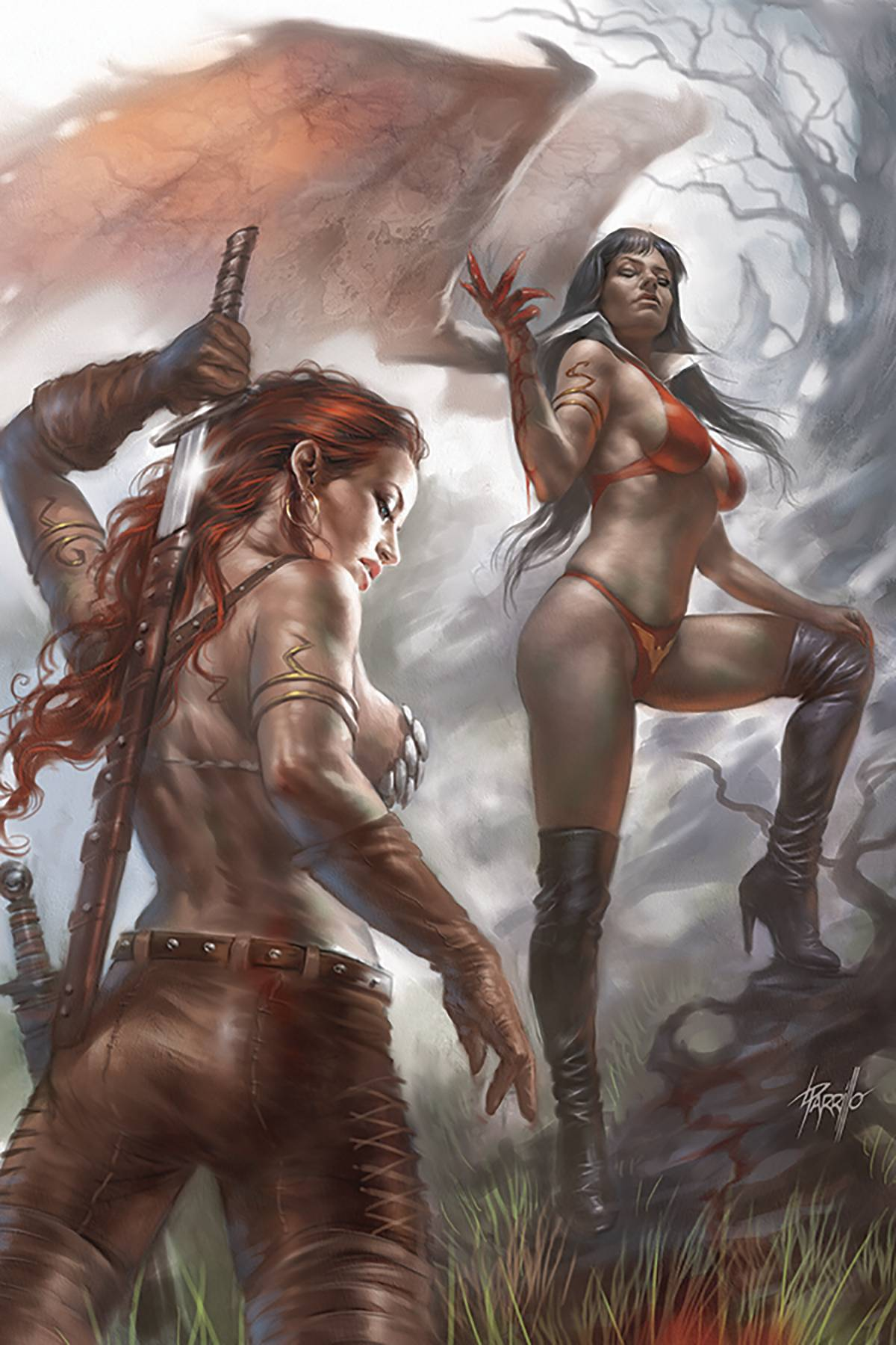 VAMPIRELLA RED SONJA #4 PARRILLO VIRGIN CVR