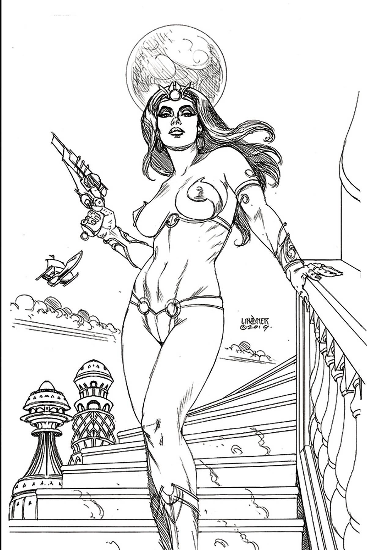 DEJAH THORIS (2019) #1 20 COPY LINSNER B&W INCV