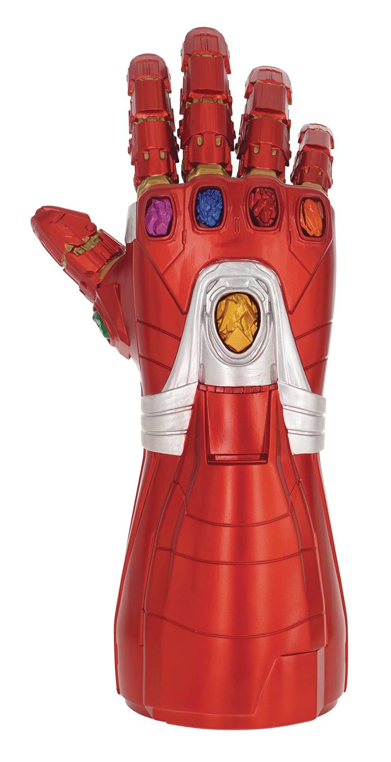 ENDGAME IRON MAN NANO GAUNTLET PVC FIGURAL COIN BANK