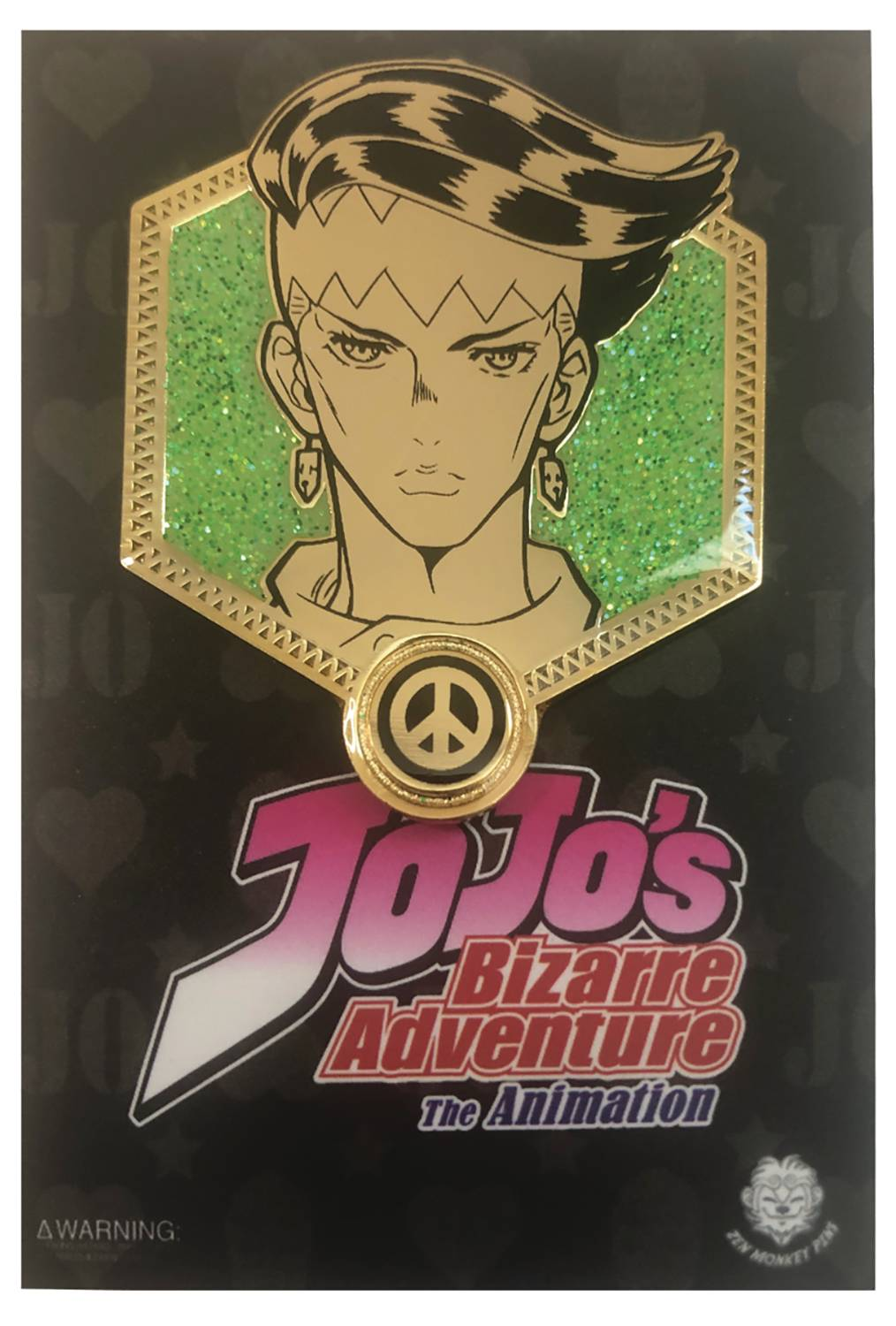 JOJOS BIZARRE ADVENTURE GOLD ROHAN PIN