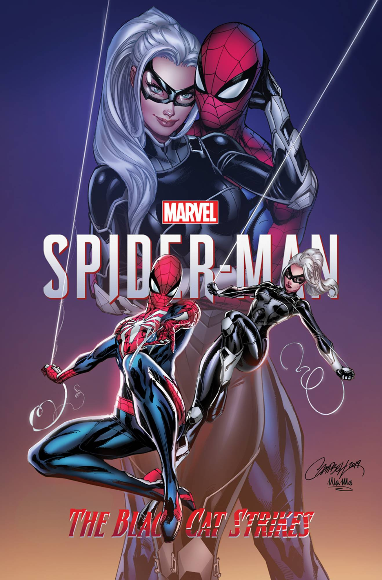 MARVELS SPIDER-MAN BLACK CAT STRIKES #1 (OF 5) JS CAMPBELL V
