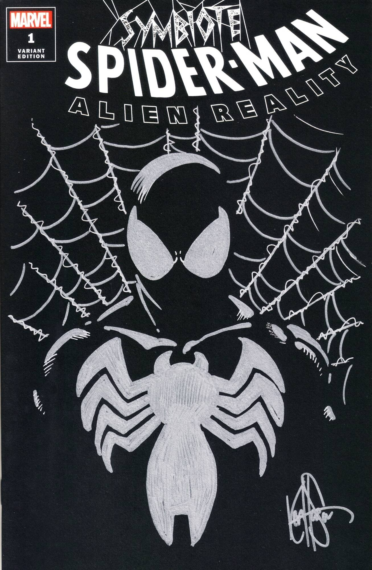 DF SYMBIOTE SPIDER-MAN ALIEN REALITY SGN REMARK HAESER