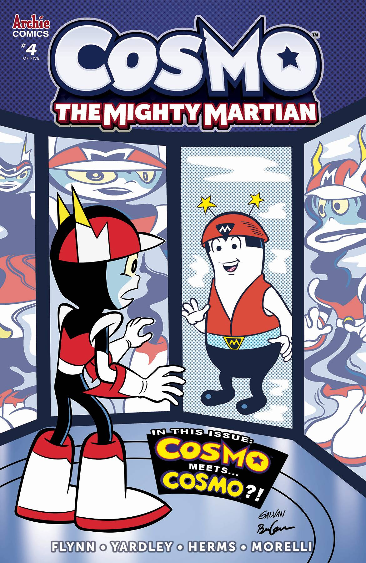 COSMO MIGHTY MARTIAN #4 (OF 5) CVR B GALVAN