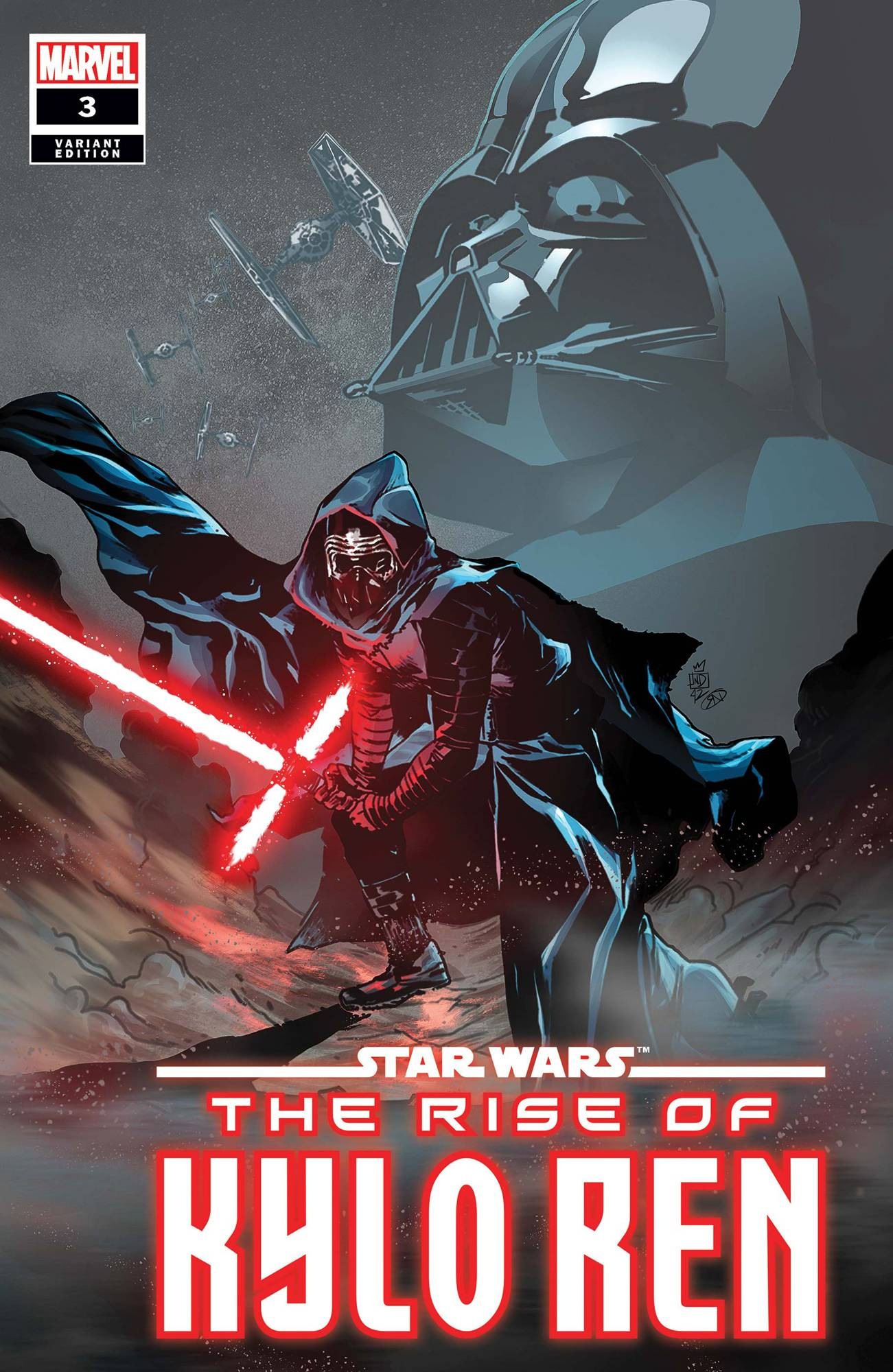 STAR WARS RISE KYLO REN #3 (OF 4) LANDINI VAR
