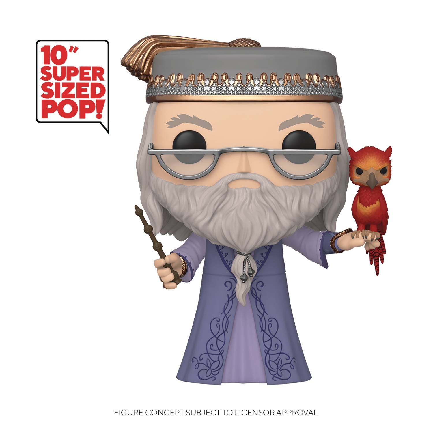 POP HARRY POTTER DUMBLEDORE W/FAWKES 10IN VIN FIG