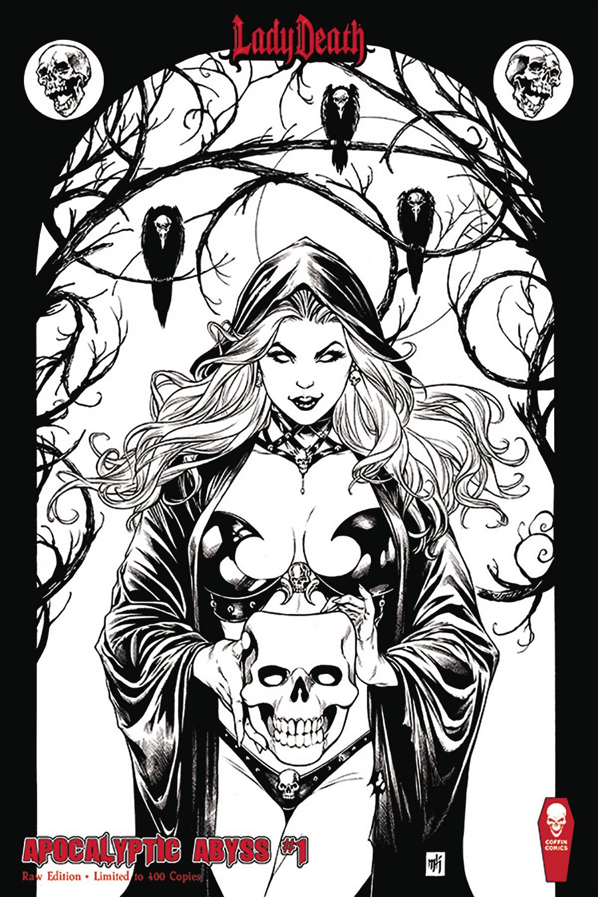 LADY DEATH APOCALYPTIC ABYSS #1 (OF 2) RAW ED (MR)