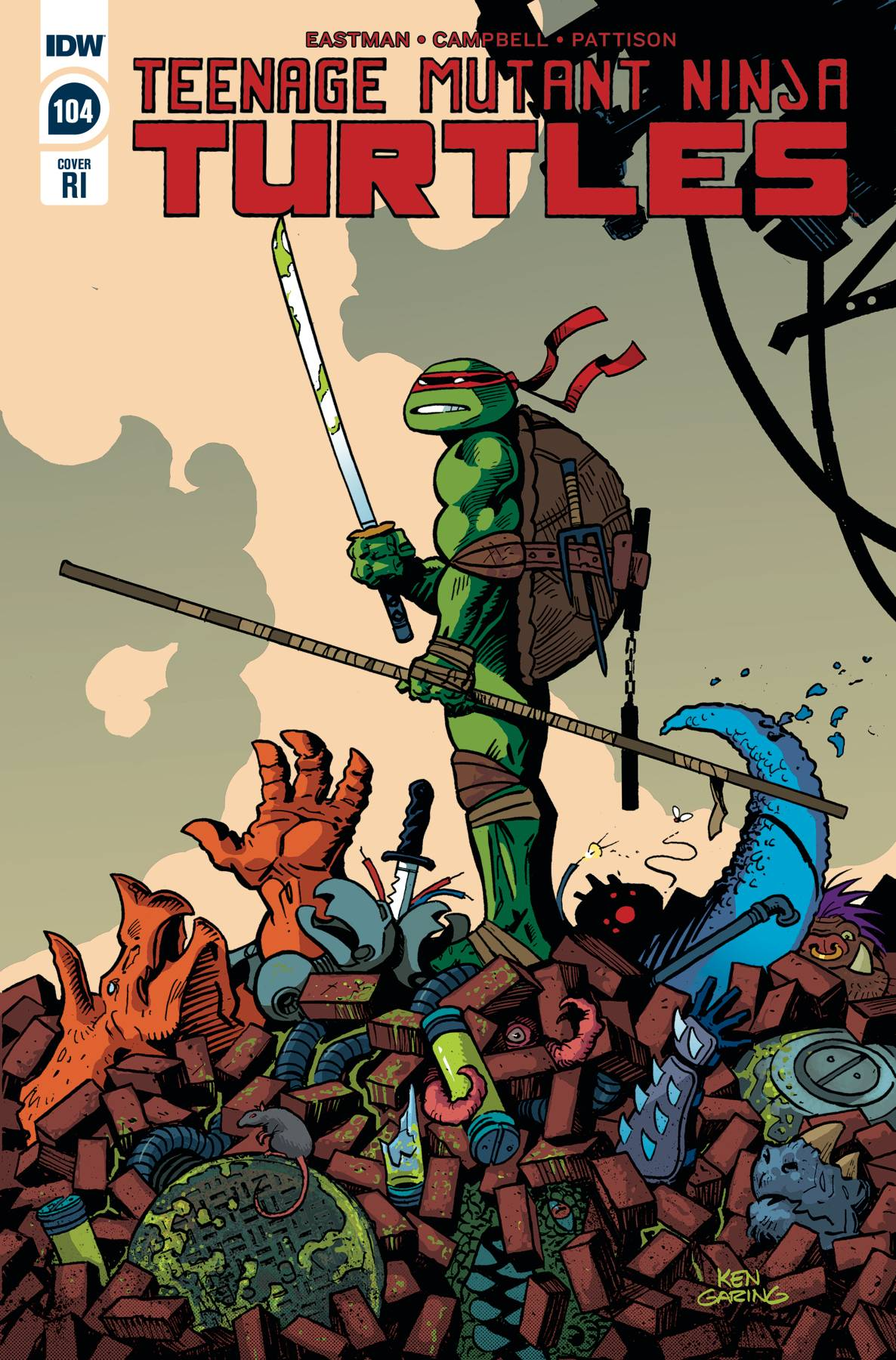 TMNT ONGOING #104 10 COPY INCV GARING