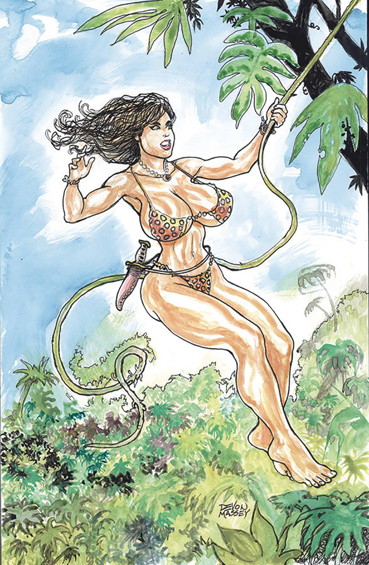 CAVEWOMAN DOUBLE FEATURE ONE SHOT CVR A MASSEY (RES) (MR) (C