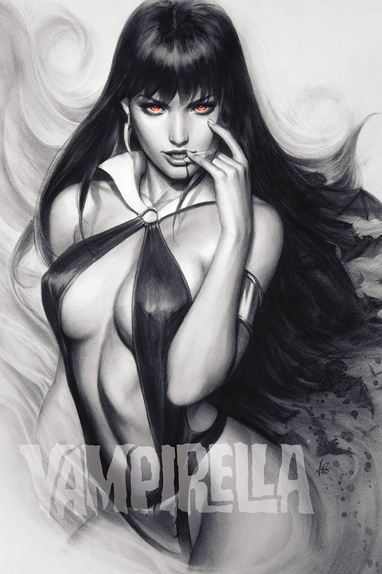 VAMPIRELLA #6 15 COPY ARTGERM CHARCOAL RED EYES FOC INCV
