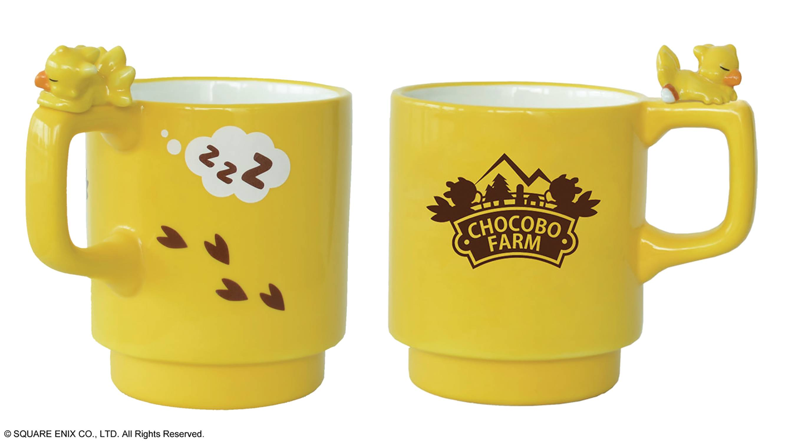 FINAL FANTASY CHOCOBO CHARACTER FIGURE MUG