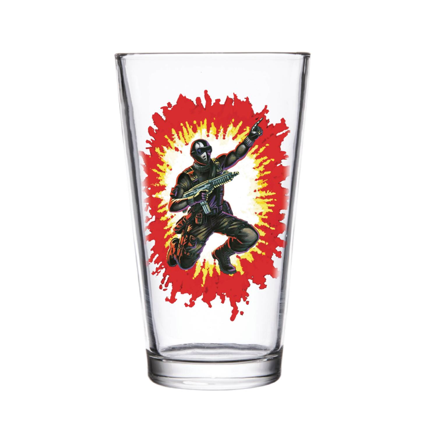 SUPER 7 GI JOE SNAKE EYES PINT GLASS