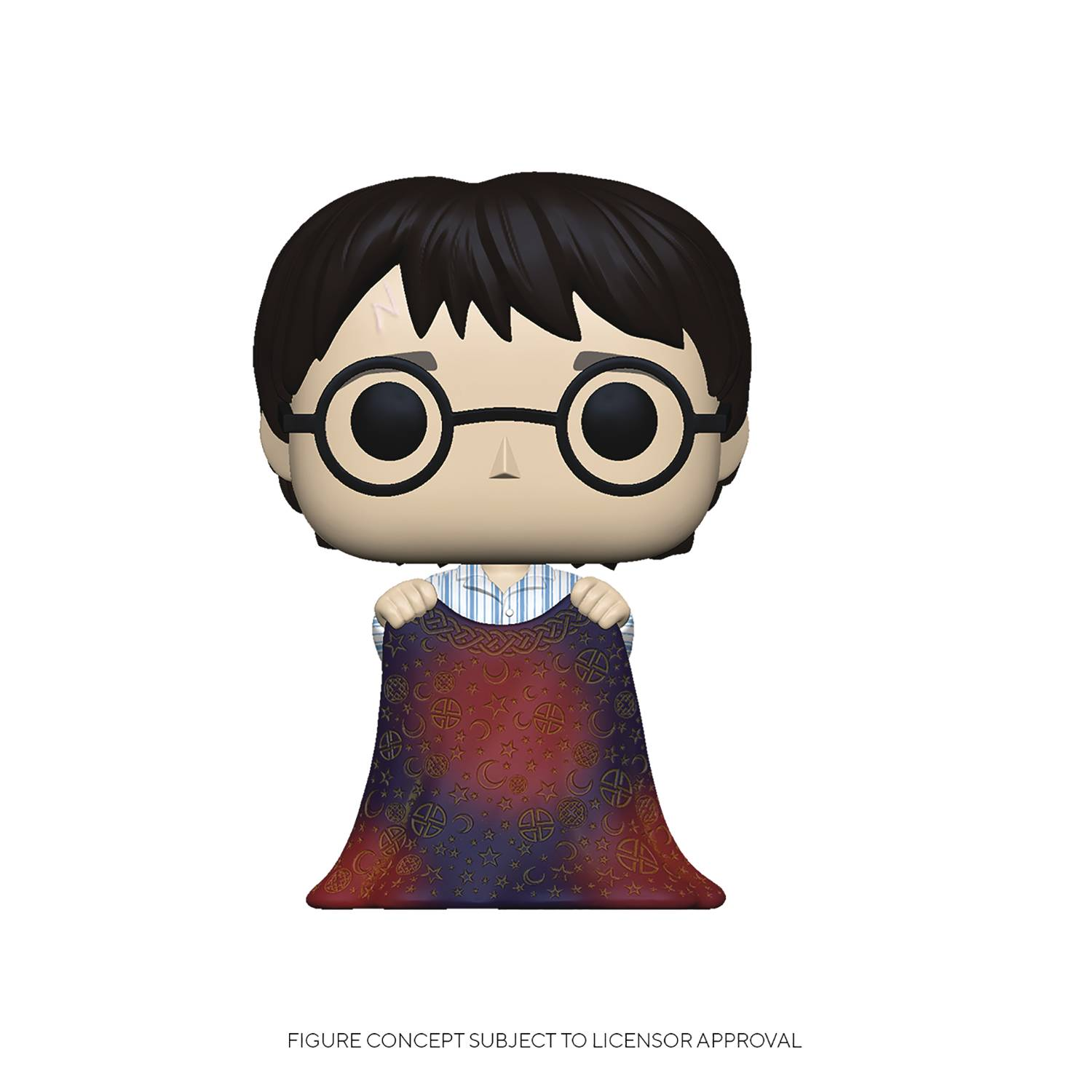 POP HP HARRY W/ INVISIBILITY CLOAK VINYL FIG