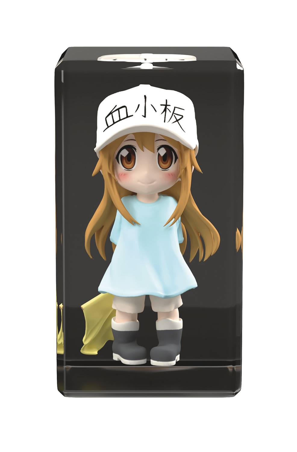 CELLS AT WORK PLATELET FULL COLOR 3D CRYSTAL FIGURE