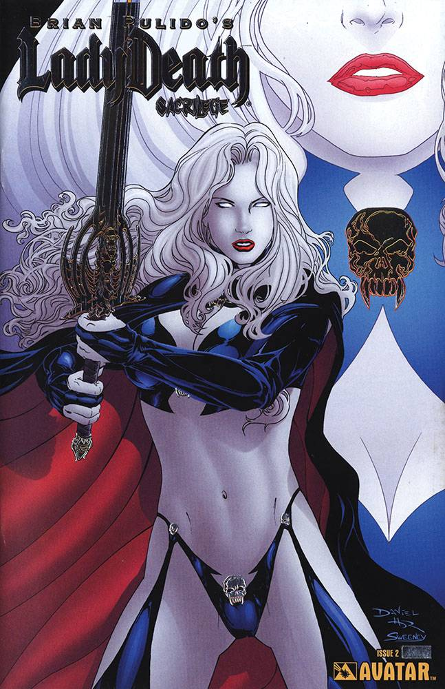 LADY DEATH SACRILEGE #2 PLATINUM FOIL VAR (MR)