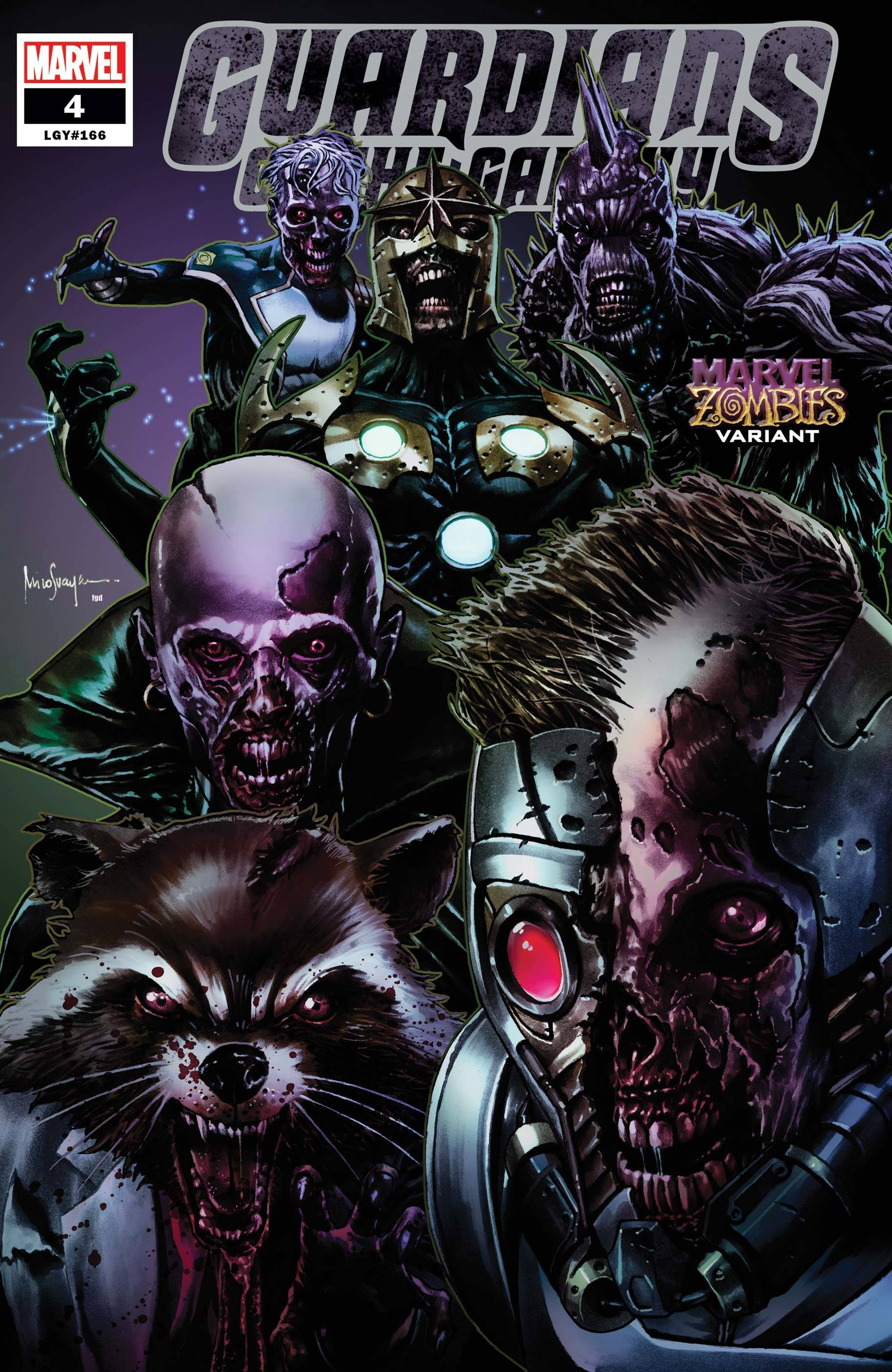 GUARDIANS OF THE GALAXY #4 SUAYAN MARVEL ZOMBIES VAR