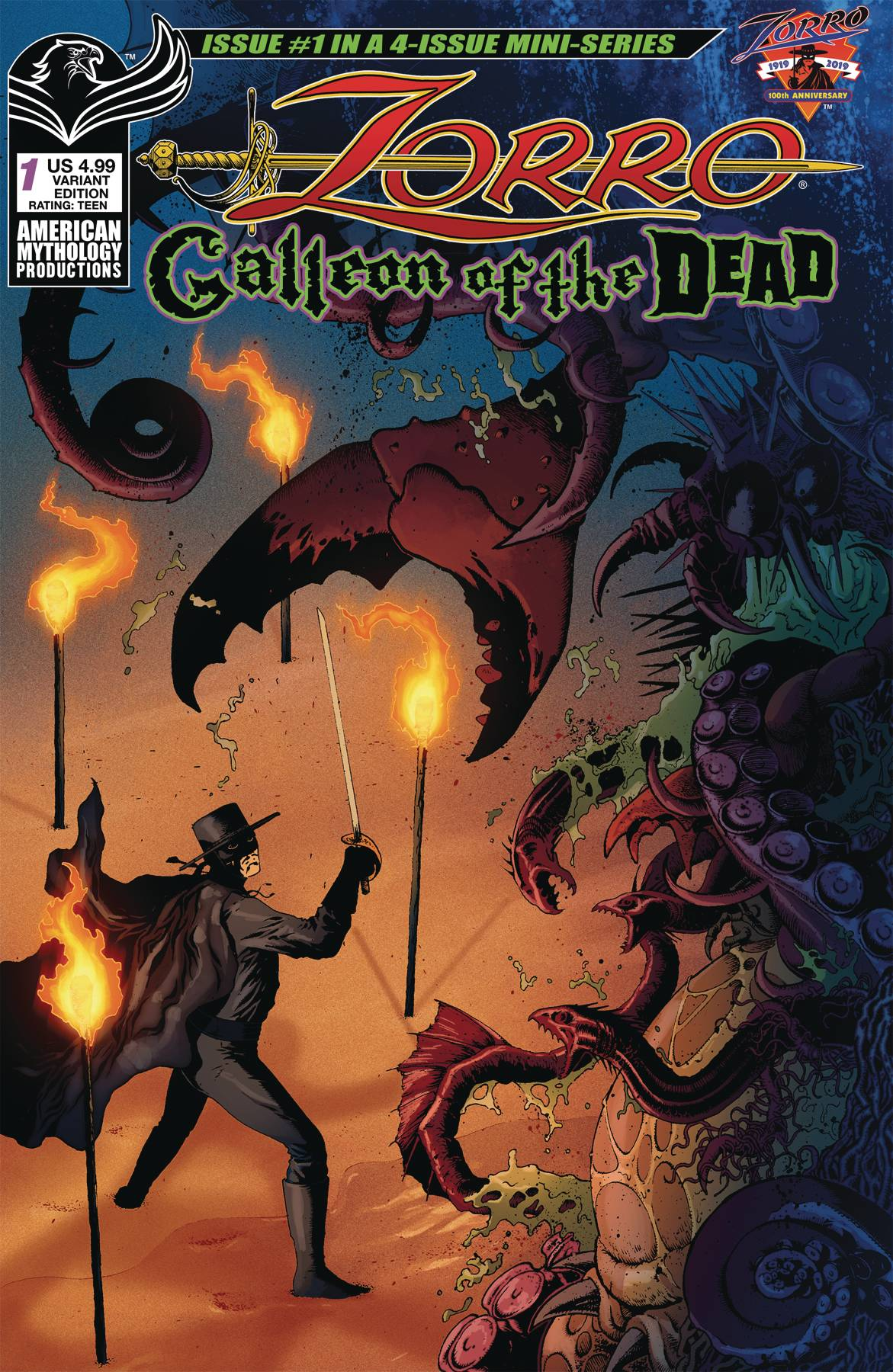 ZORRO GALLEON OF DEAD #1 CVR B WOLFER (RES)