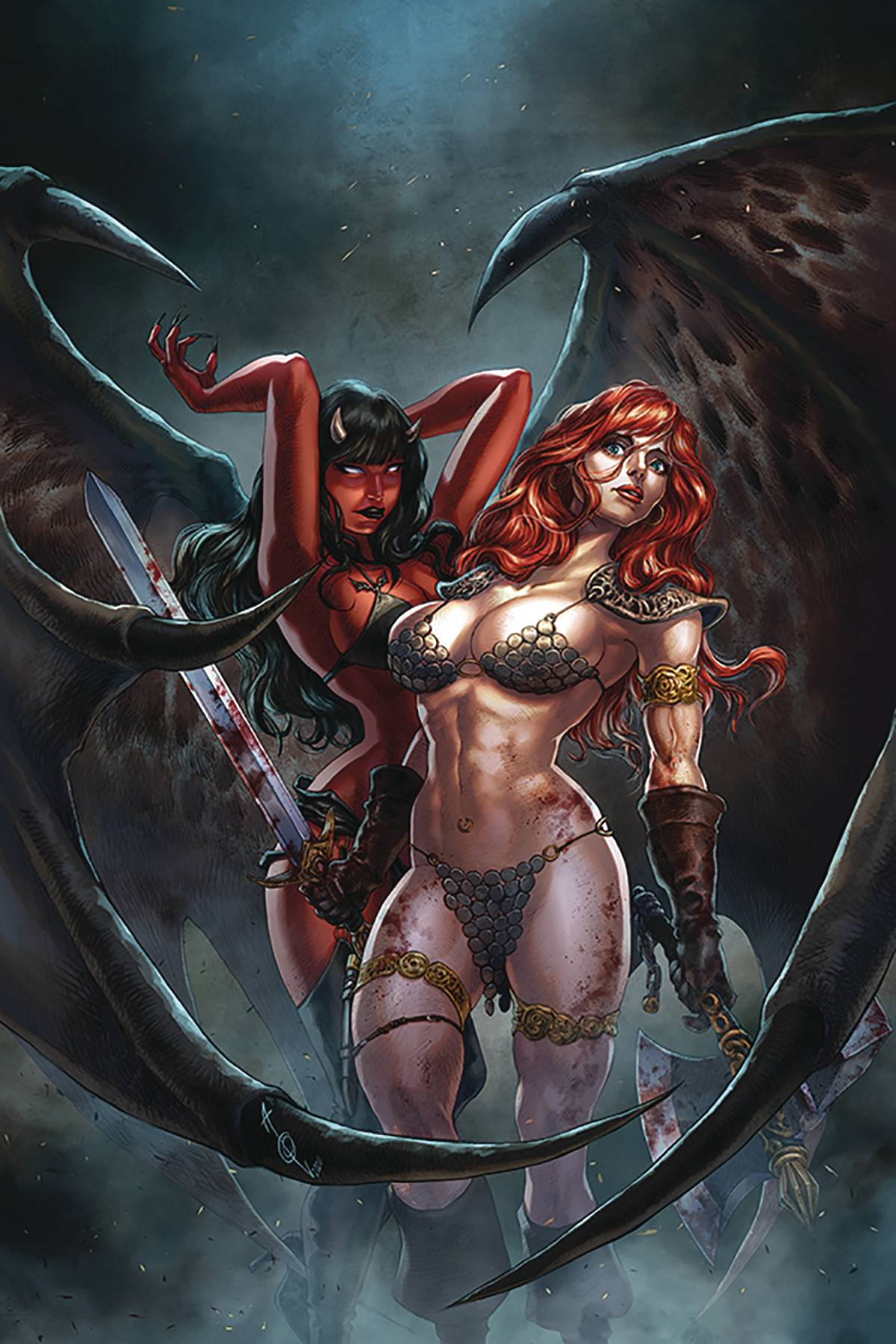 RED SONJA AGE OF CHAOS #4 QUAH LTD VIRGIN CVR