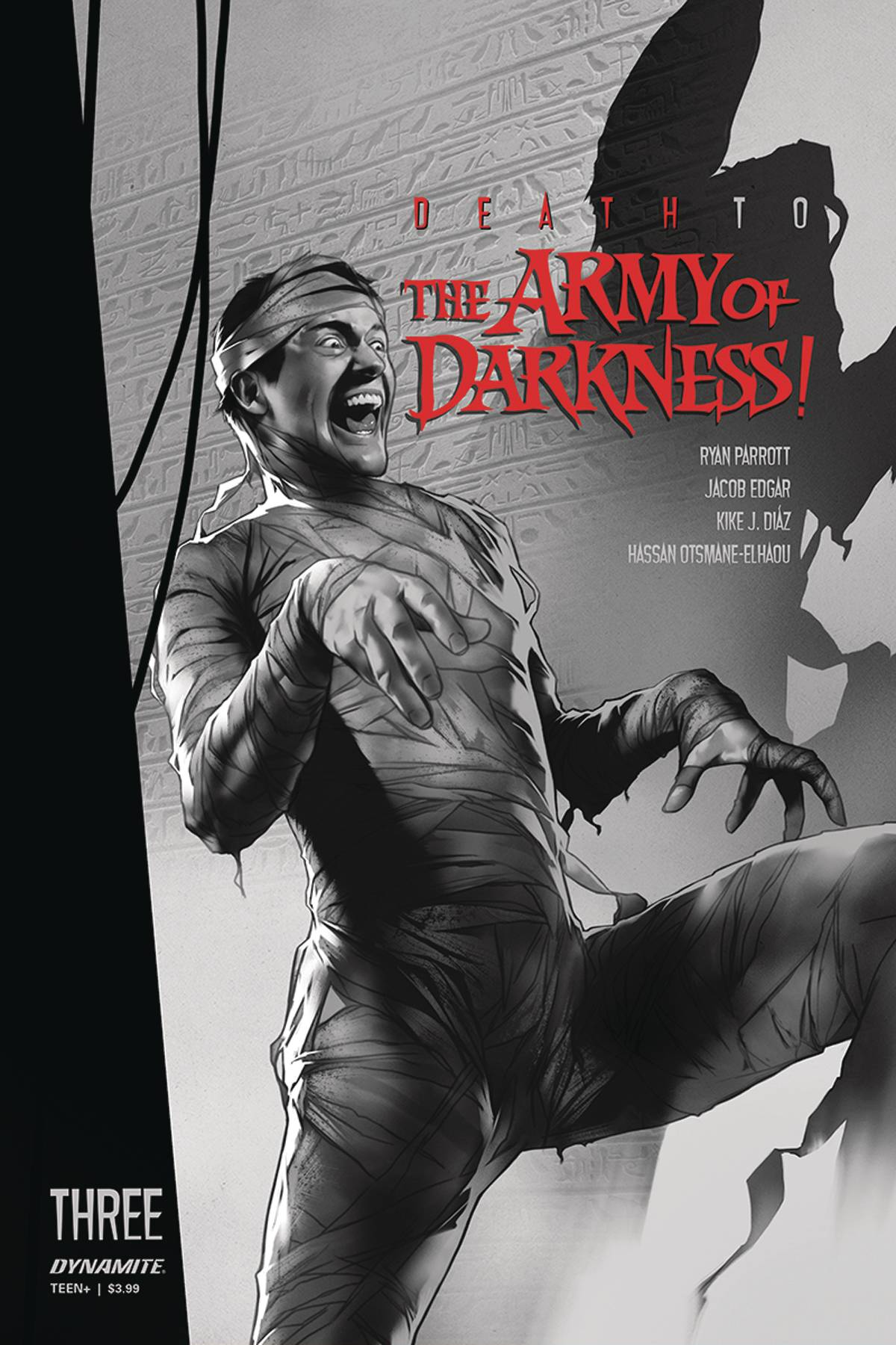 DEATH TO ARMY OF DARKNESS #3 30 COPY OLIVER B&W INCV