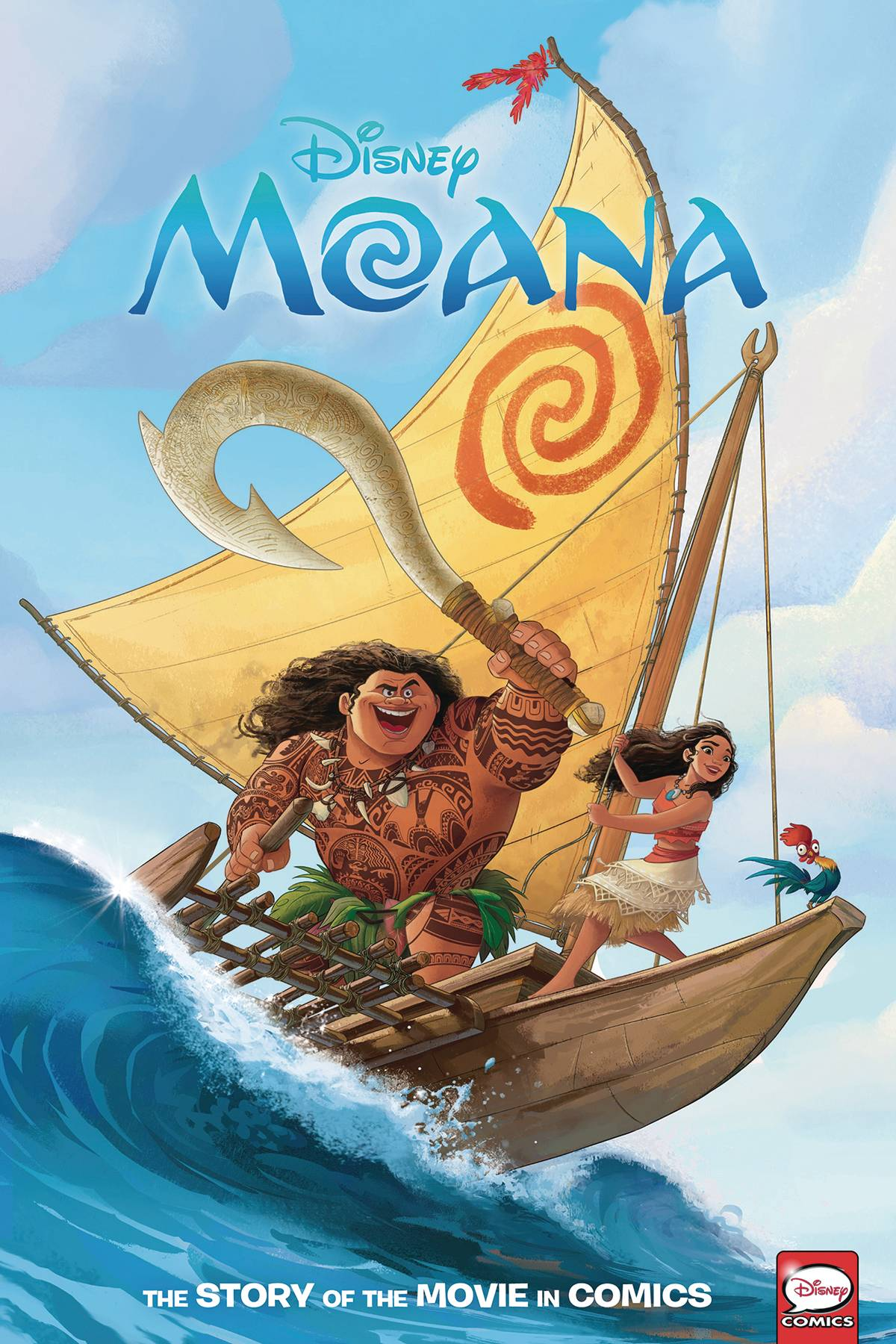 DISNEY MOANA STORY OF THE MOVIE IN COMICS HC