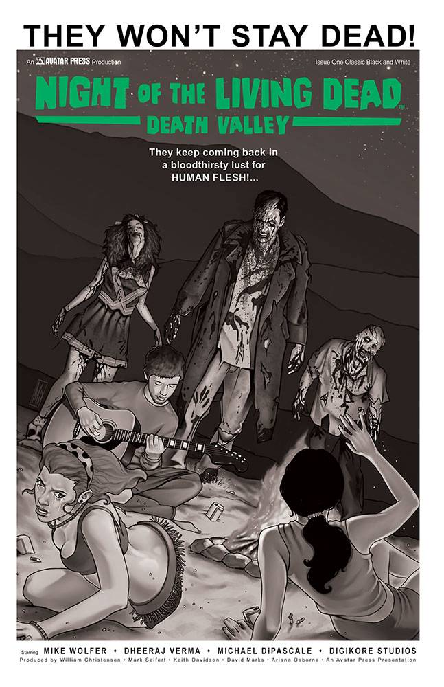 NIGHT OF THE LIVING DEAD DEATH VALLEY #1 CLASSIC VAR (MR)