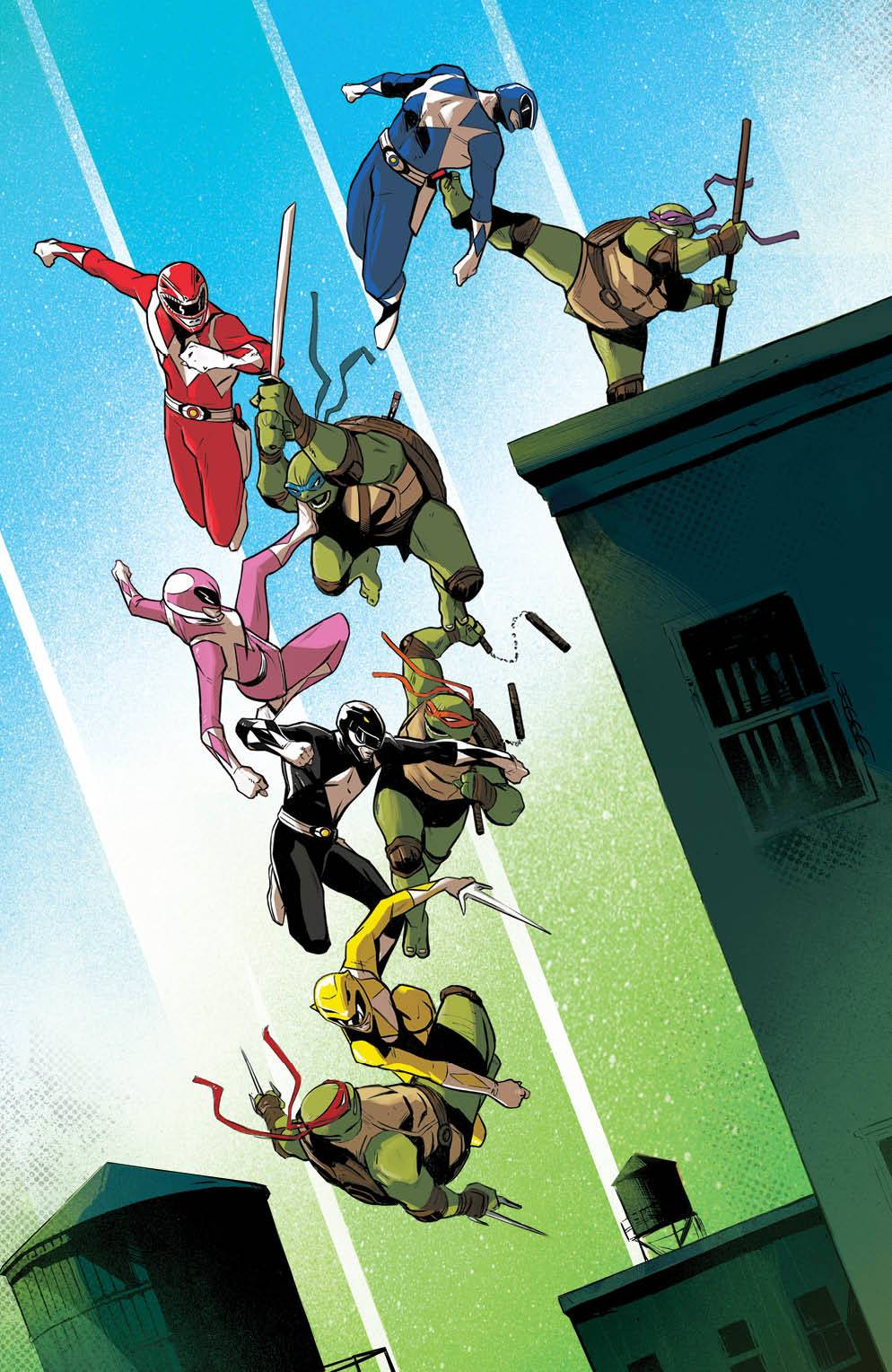 POWER RANGERS TEENAGE MUTANT NINJA TURTLES #3 FOC GARBET VAR