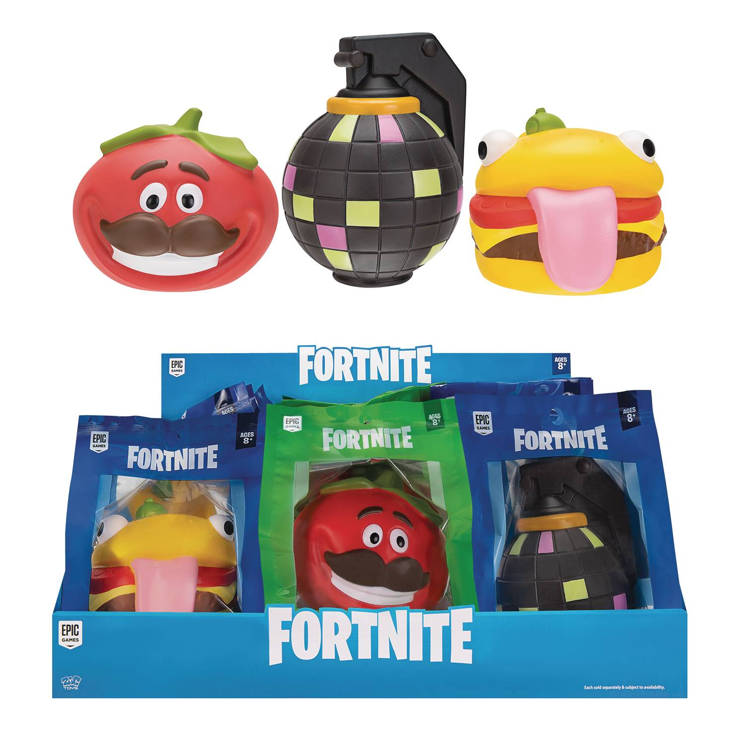 FORTNITE SERIES1 FOAM SQUISHY 6PC ASST DS