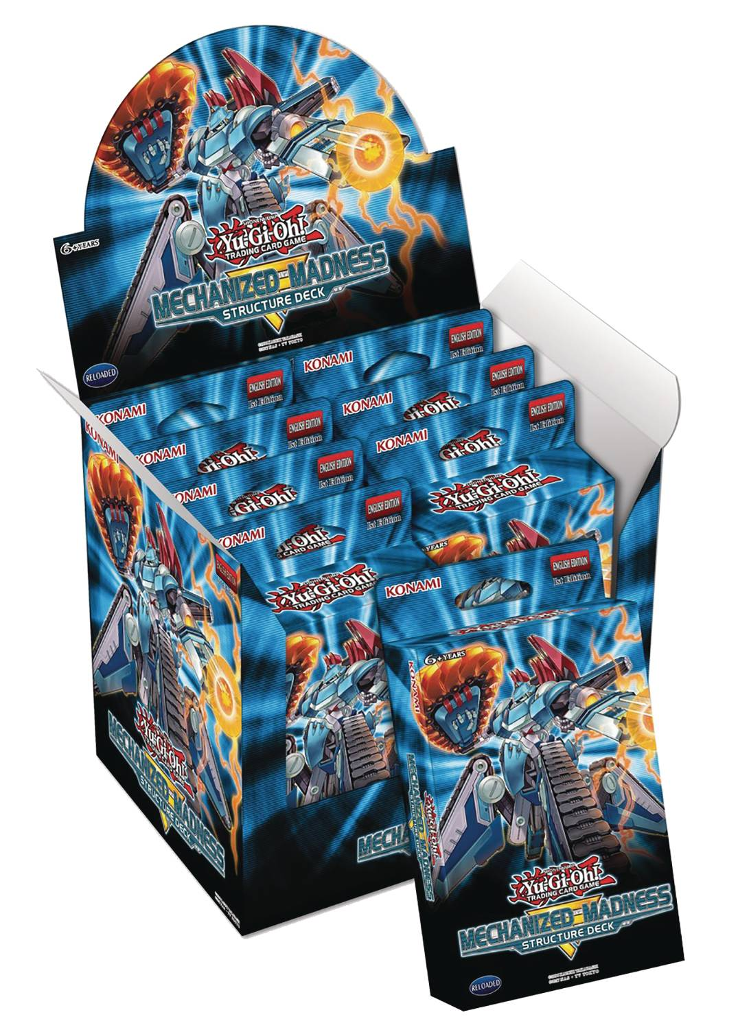 YU GI OH TCG MECHANIZED MADDNESS STRUCTURE DECK DIS (8CT) (C