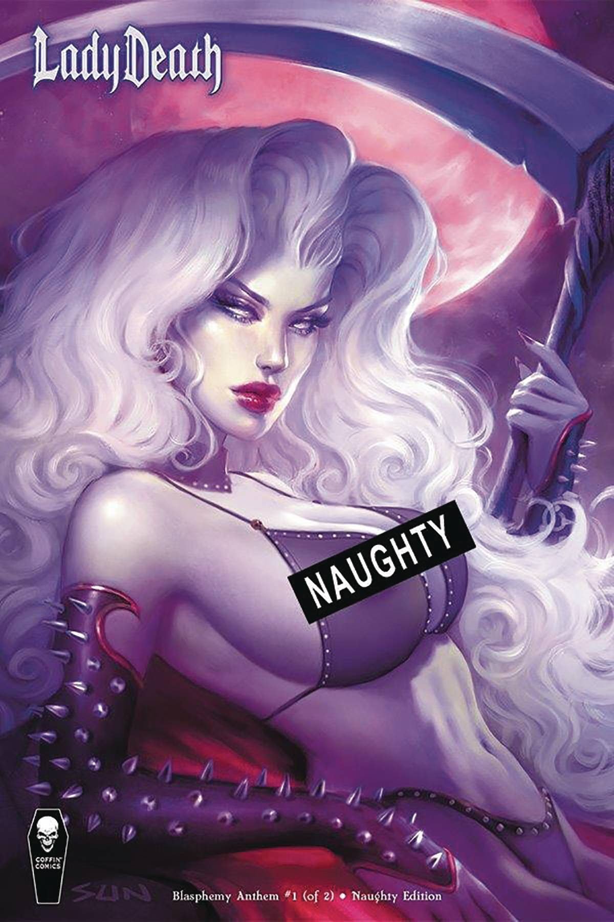 LADY DEATH BLASPHEMY ANTHEM #1 (OF 2) NAUGHTY CVR (RES) (MR)