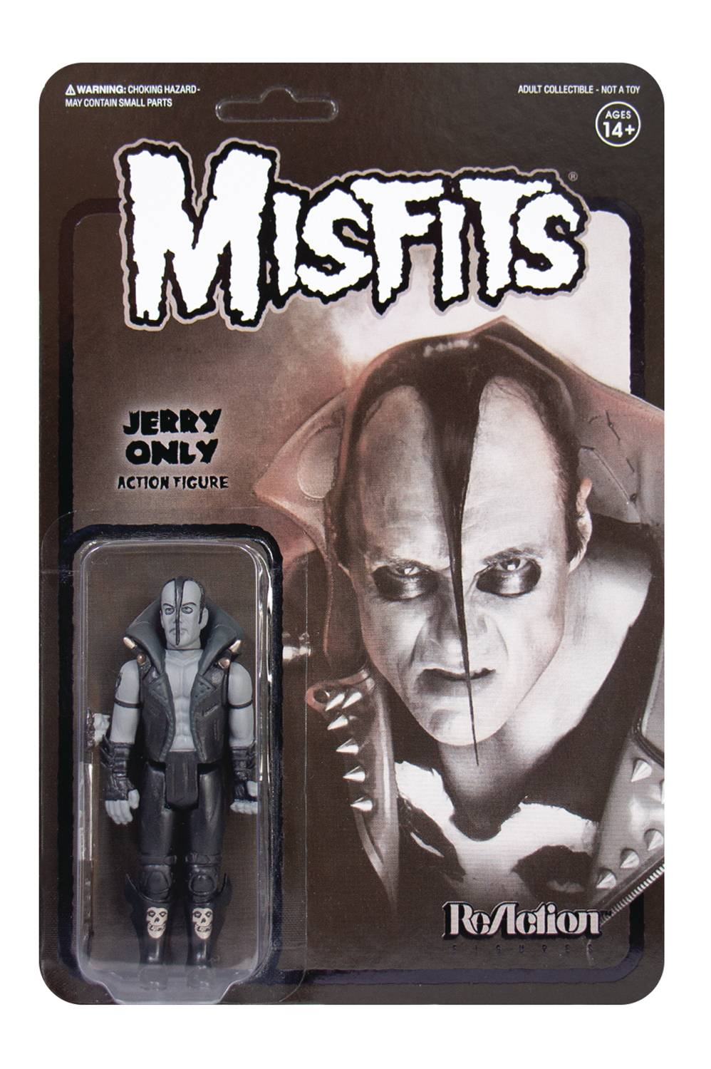 MISFITS JERRY ONLY BLACK METAL VERSION REACTION FIG  (C