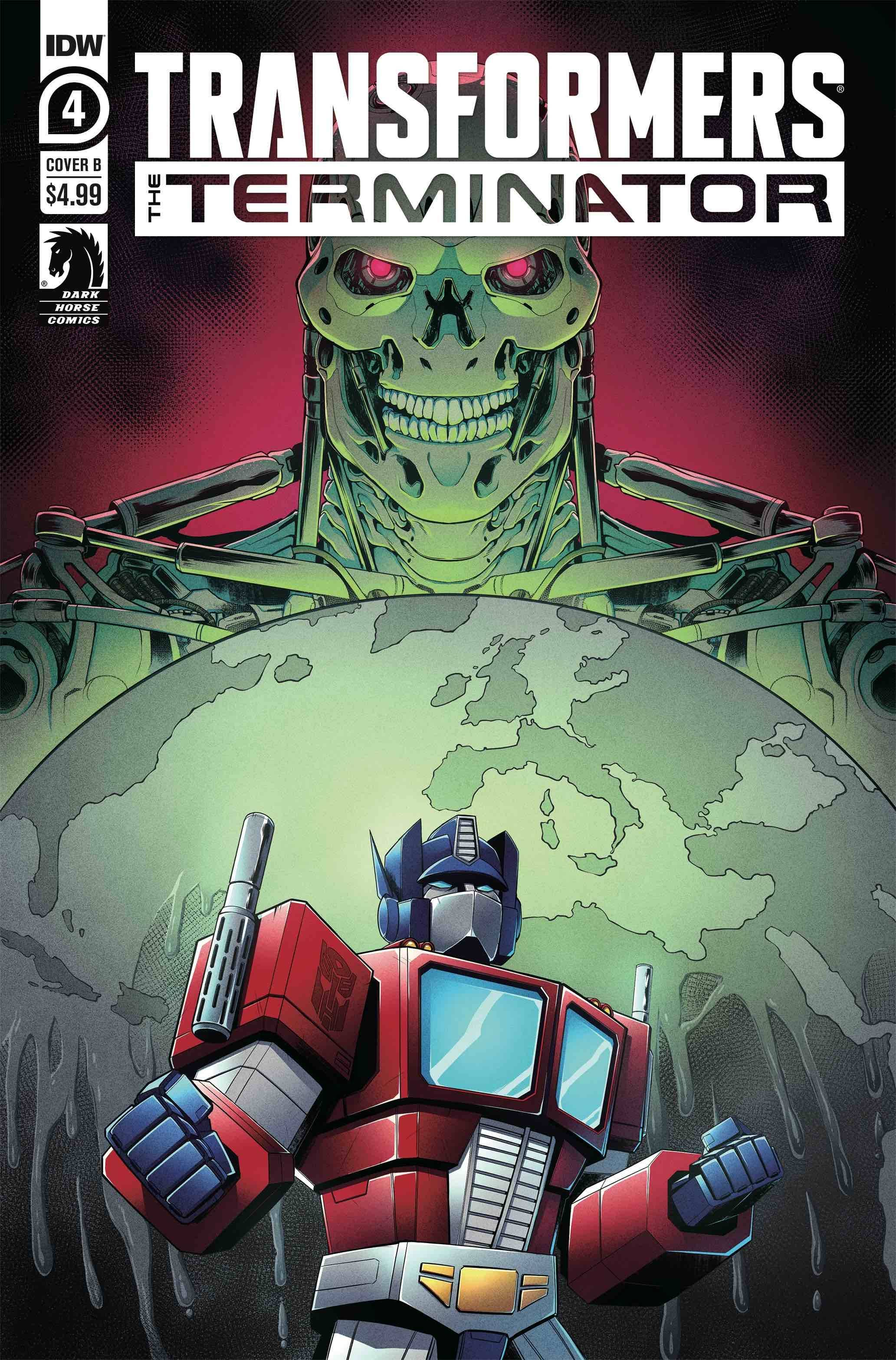 TRANSFORMERS VS TERMINATOR #4 (OF 4) CVR B MONTFORT