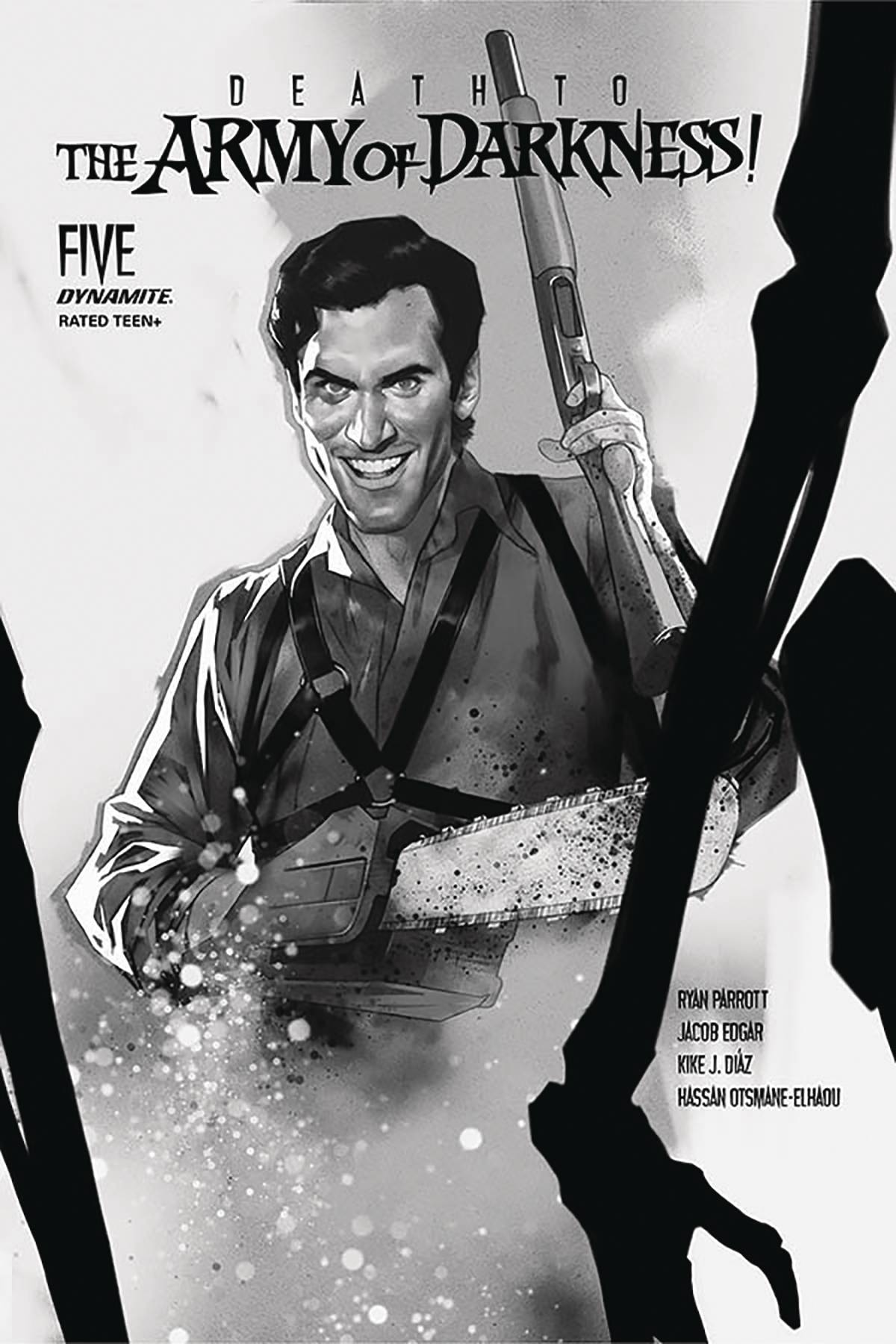 DEATH TO ARMY OF DARKNESS #5 30 COPY OLIVER B&W INCV