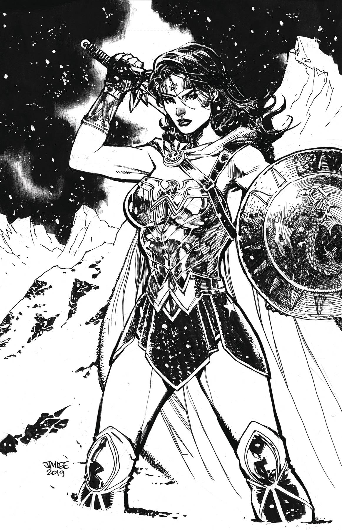 WONDER WOMAN #759 CARD STOCK JIM LEE VAR ED