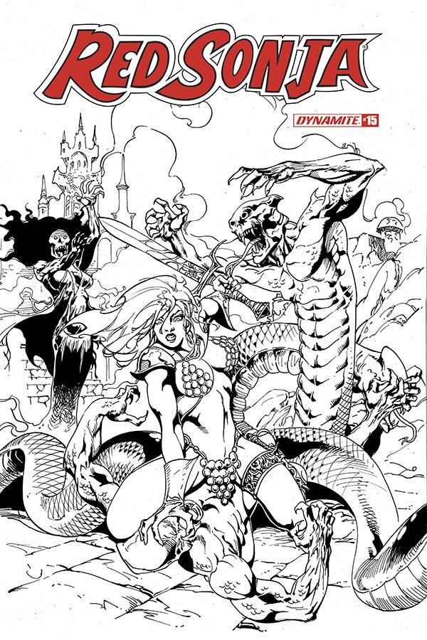 RED SONJA #15 11 COPY CASTRO B&W FOC INCV